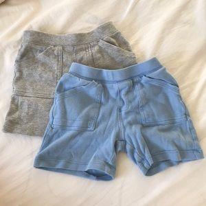 Carter's cotton 1 blue 1 gray shorts